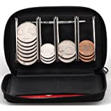 Coin Purse Wallet With Coin Sorter – Quick Change On The Go – Trusty Coin Pouch For Pocket, Purse Or Car