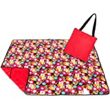 Roebury Picnic Blanket & Beach Blanket - Large Oversized Water-Resistant Sandproof Mat for Outdoor Travel or Camping Rug Folds into a compact Tote Bag