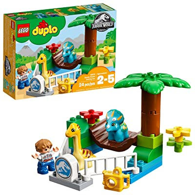 LEGO DUPLO Jurassic World Gentle Giants Petting Zoo 10879 Building Kit (24 Pieces): Toys & Games