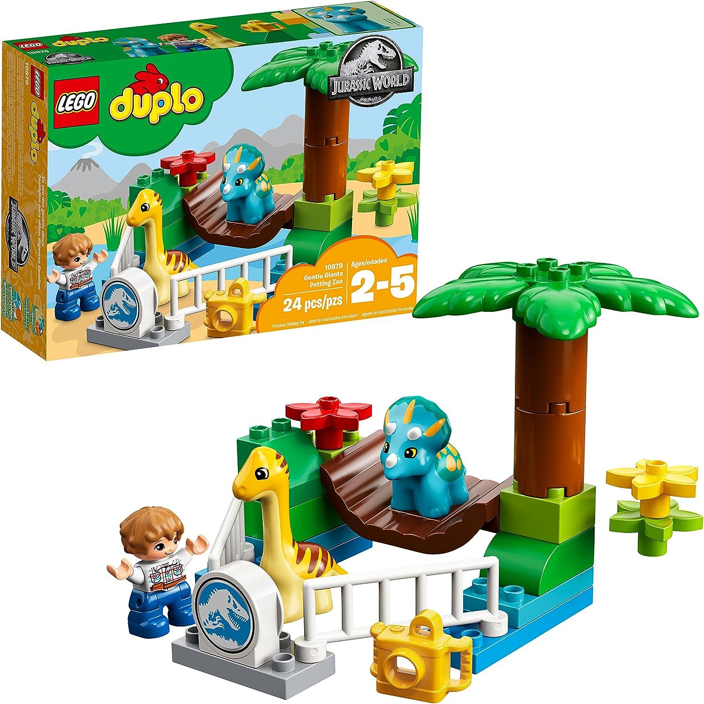 LEGO DUPLO Jurassic World Gentle Giants Petting Zoo 10879 Building Kit (24 Pieces)