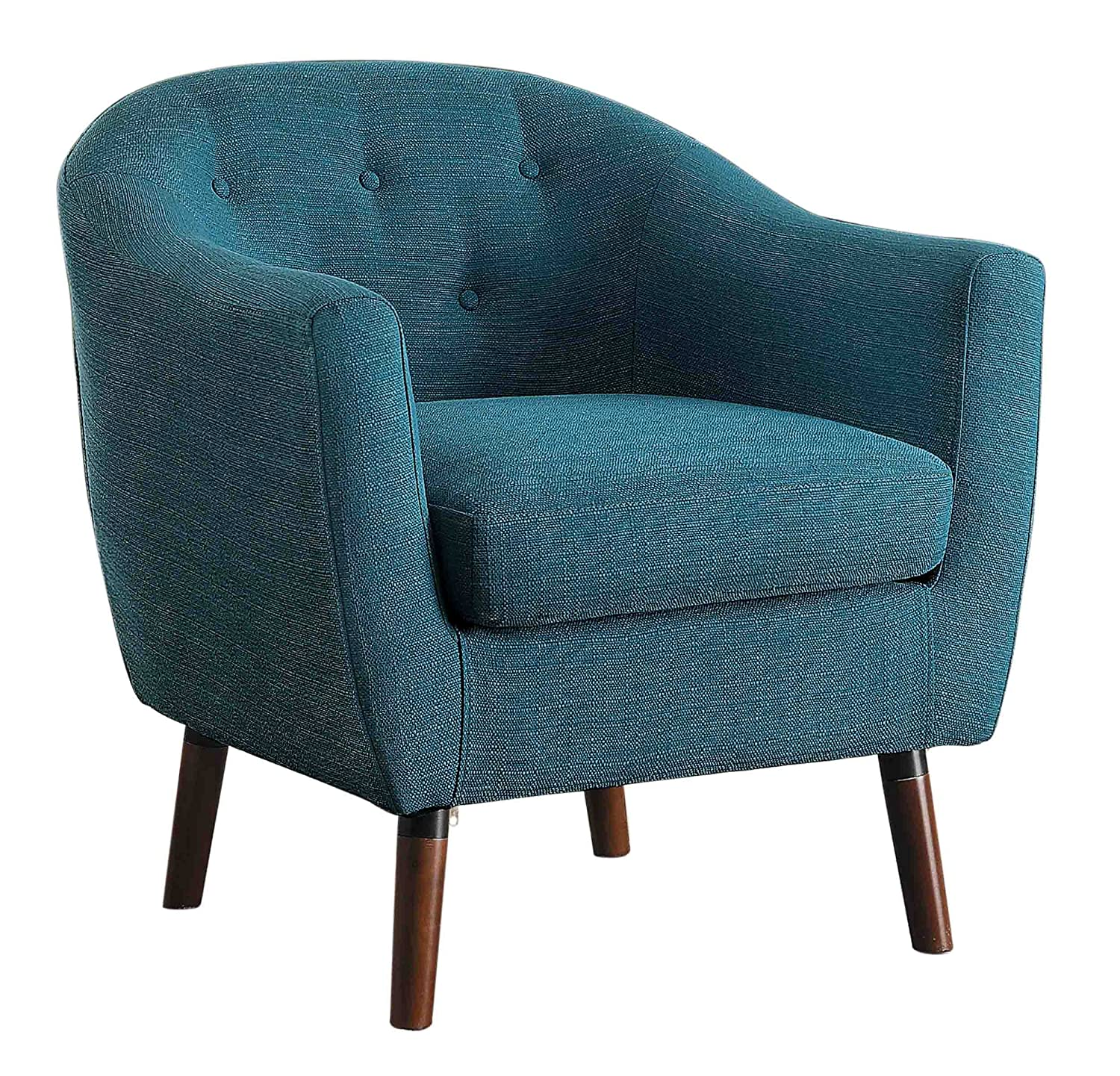 Amazon.com: Homelegance Lucille Fabric Upholstered Pub Barrel Chair ...
