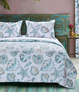 Barefoot Bungalow Cruz Coastal Quilt Set, King, Multicolor