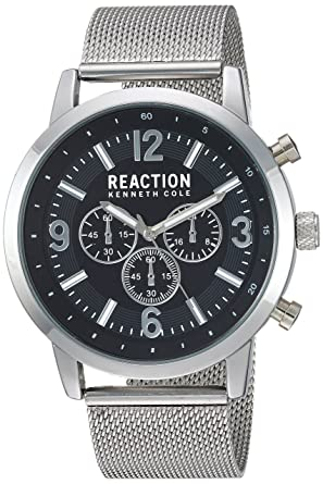 6f7ffe5c8c2 Kenneth Cole REACTION Male Analog-Quartz Watch with Stainless-Steel Strap