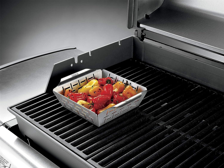 Weber Holzkohlegrill Richtig Heizen : Weber grill style gemüsekorb edelstahl klein amazon garten
