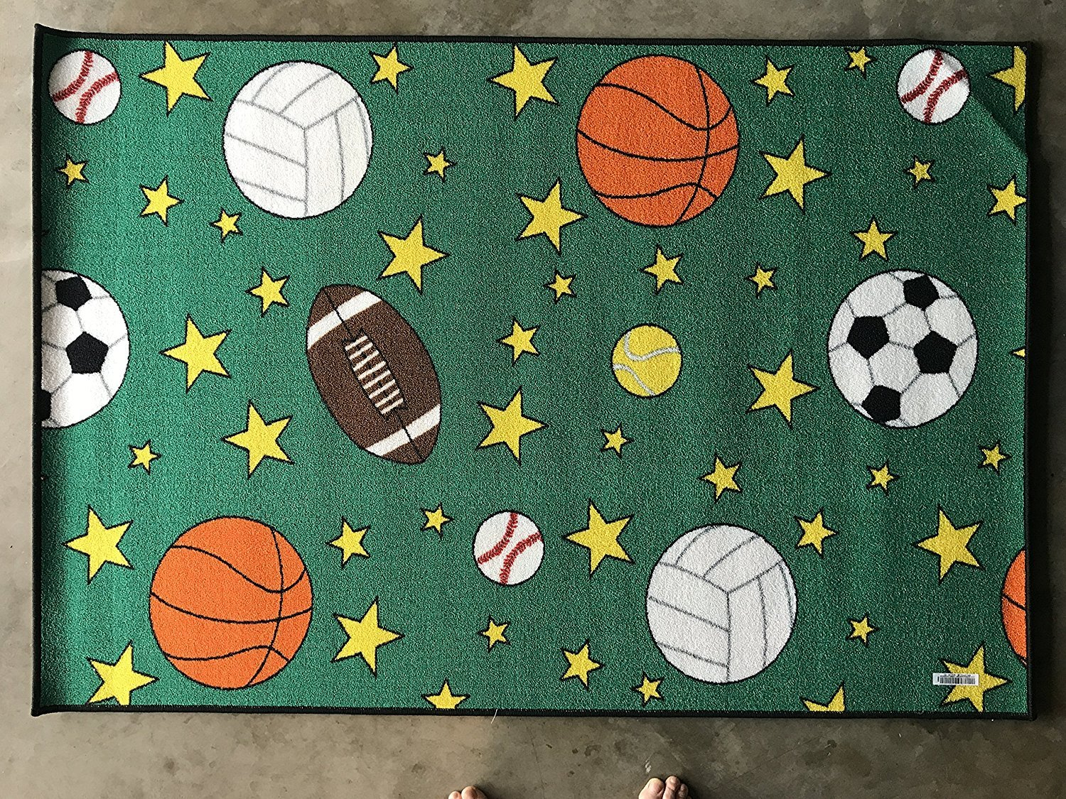 Play Time Kids Reversible Area Rug Race Track Learning Carpet Game Room Design 9 (4 Feet X 5 Feet 9 Inch)