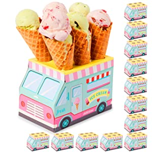 Ice Cream Party Decoration, Truck Stand Cone Holders (7 x 5 x 4.5 in, 12 Pack)