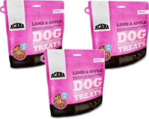ACANA Singles Dog Treats - Lamb and Apple, 3.25oz Each (3 Pack)