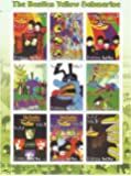 The Beatles Yellow Submarine Briefmarkenbogen mit 9 postfrische Briefmarken - psychadelic Kunstwerk aus den 60er Jahren
