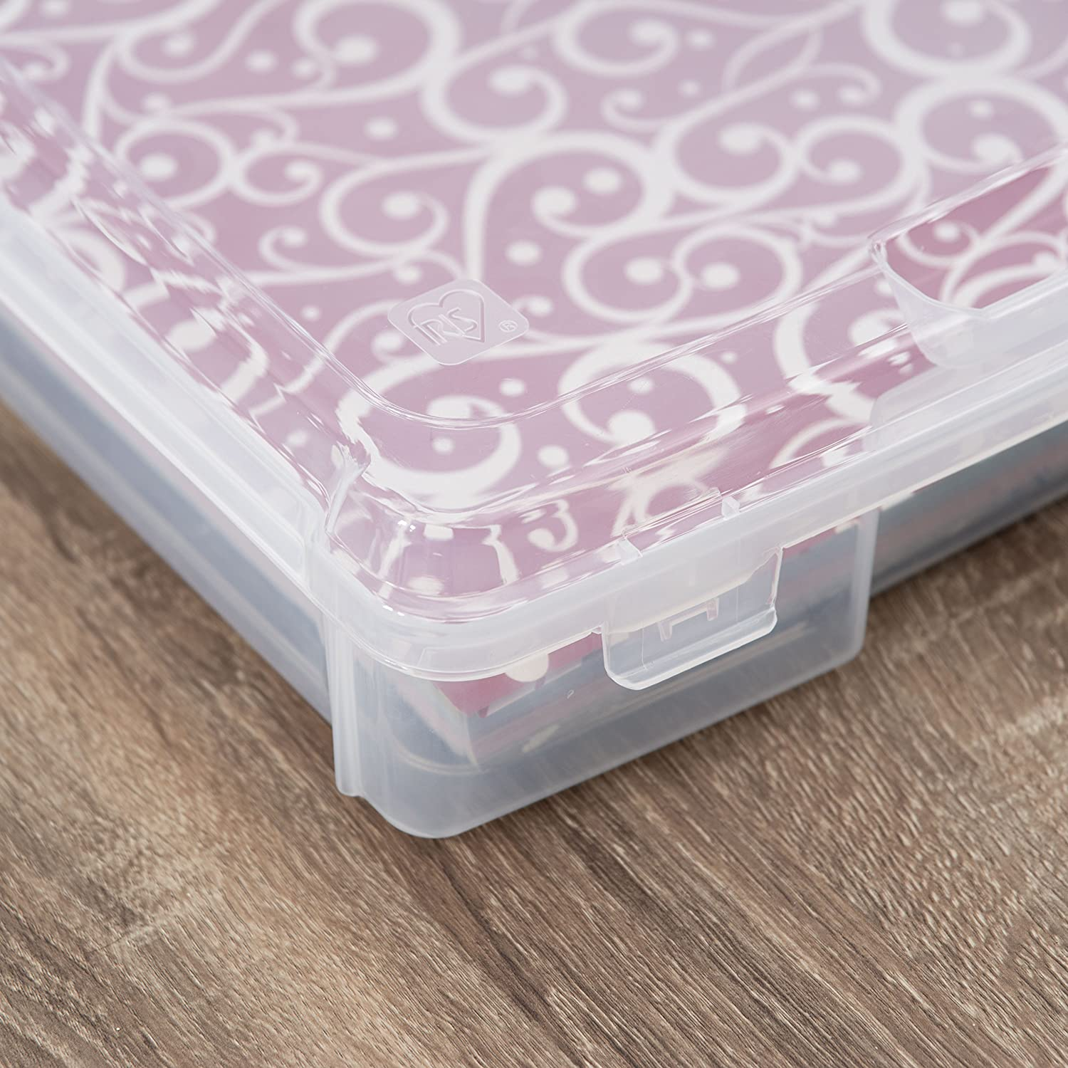 Holds 12x12 Paper Inc IRIS USA Clear clear SBC-350E 12 x 12 Portable Project Case