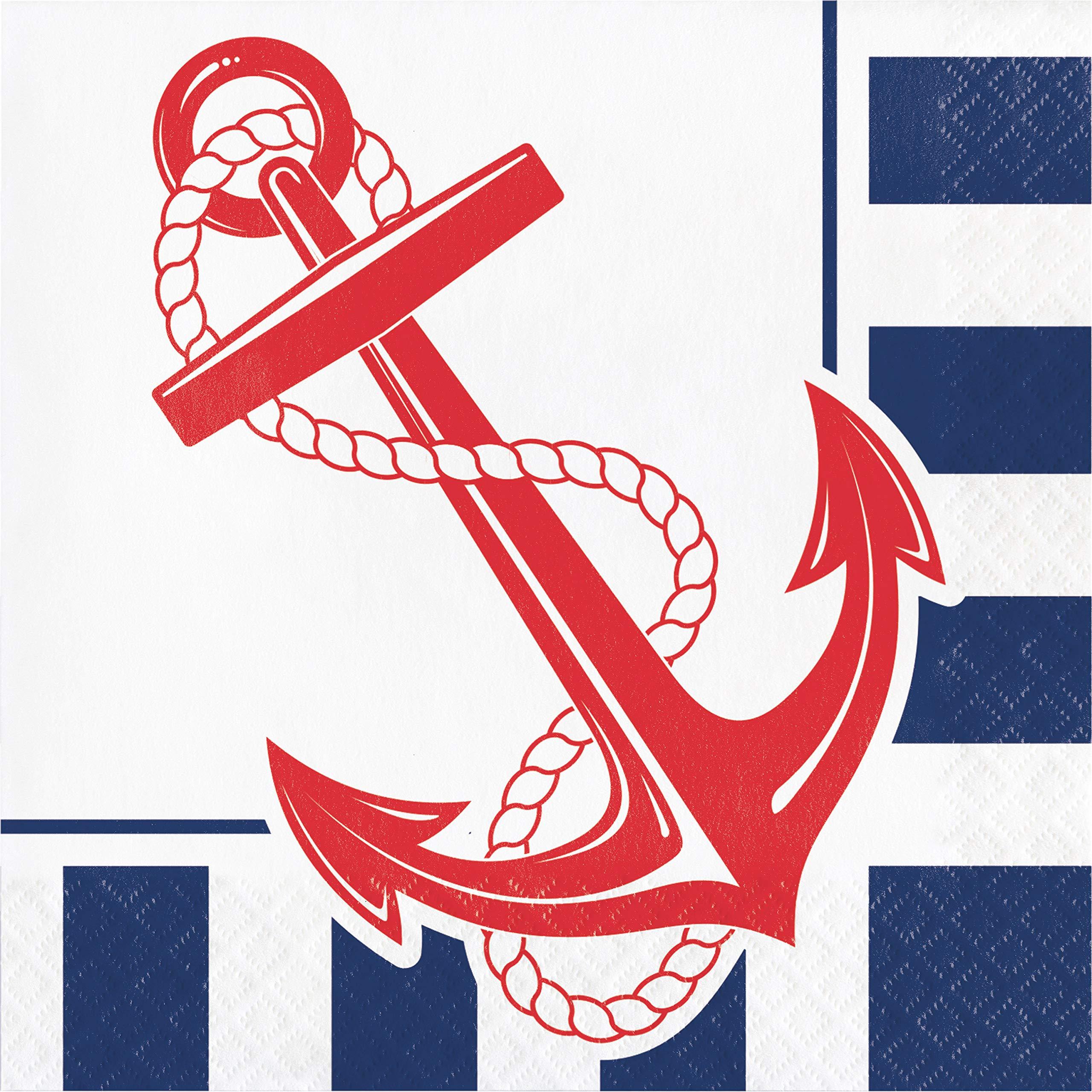 Nautical Anchor Napkins, 48 ct