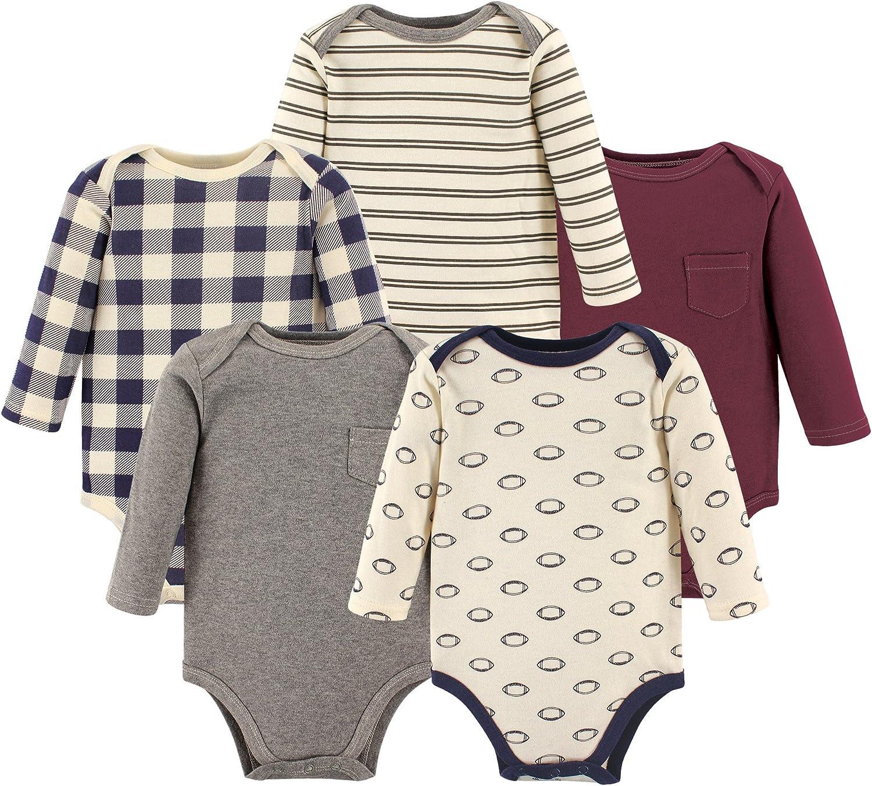 Hudson Baby Unisex Baby Long Sleeve Cotton Bodysuits