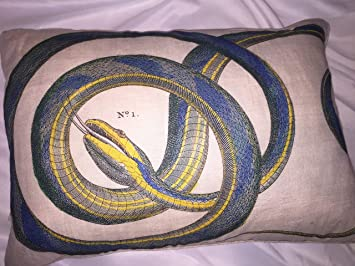 Amazoncom Design Legacy By Kelly Oneal Snake Pillow Home Kitchen