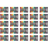 Amazon Basics Crayons - 16 Assorted Colors, 25-Pack
