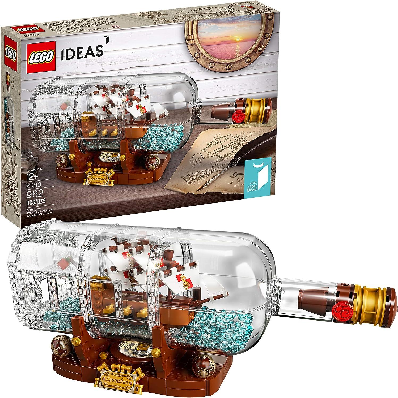 LEGO Ideas Ship in a Bottle 21313 Expert Building Kit Snap Together Model Ship