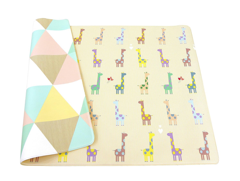 esterilla de juegos para ni/ños 1,85m x 1,25m x 12mm BABY CARE playmat Giraffe in Love Medium
