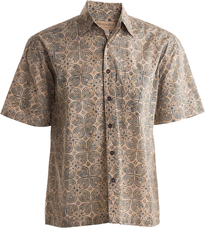 Johari West Santorini Tropical Hawaiian Cotton Shirt