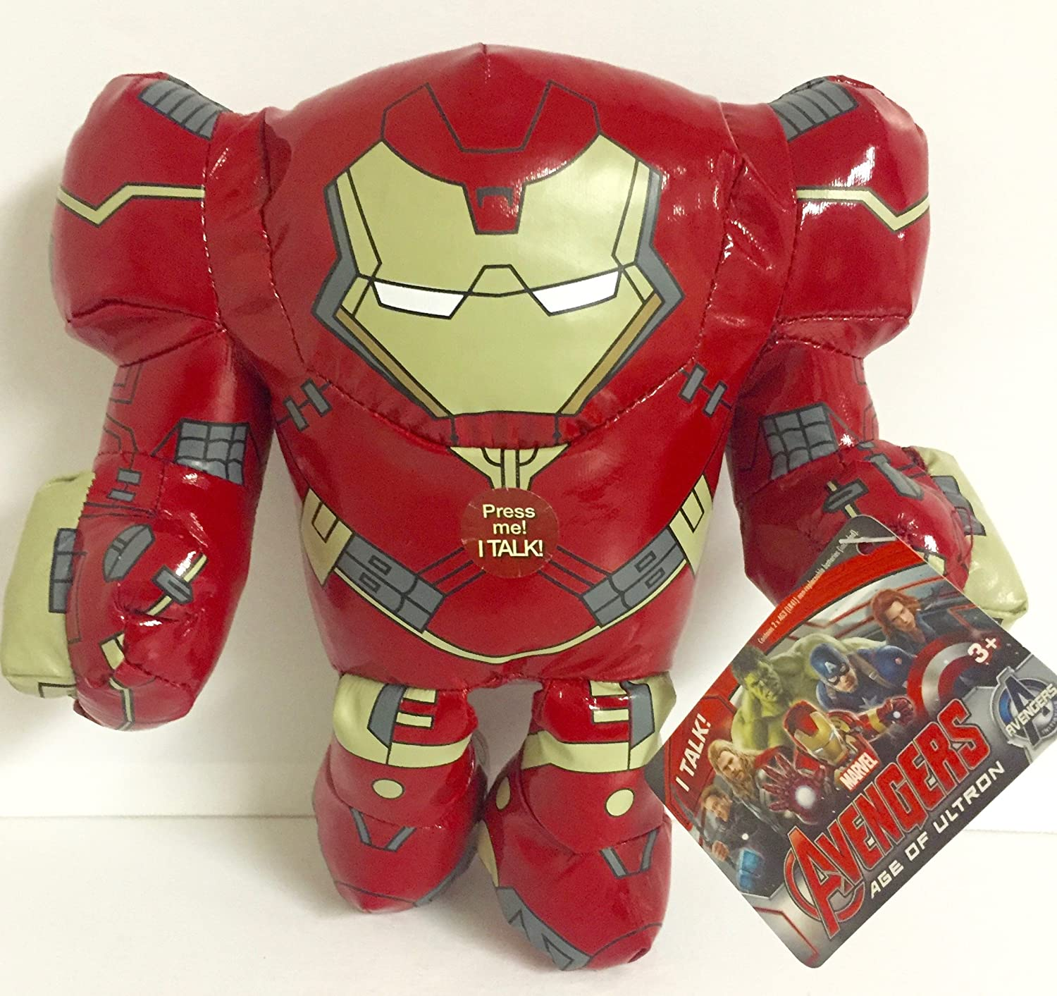 """ULTRON 7/"""" Avengers Age Of Ultron Talking Soft Plush Figure Just Play"""