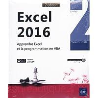 Excel 2016 - Coffret de 2 livres : Apprendre Excel et la programmation en VBA (2e édition)