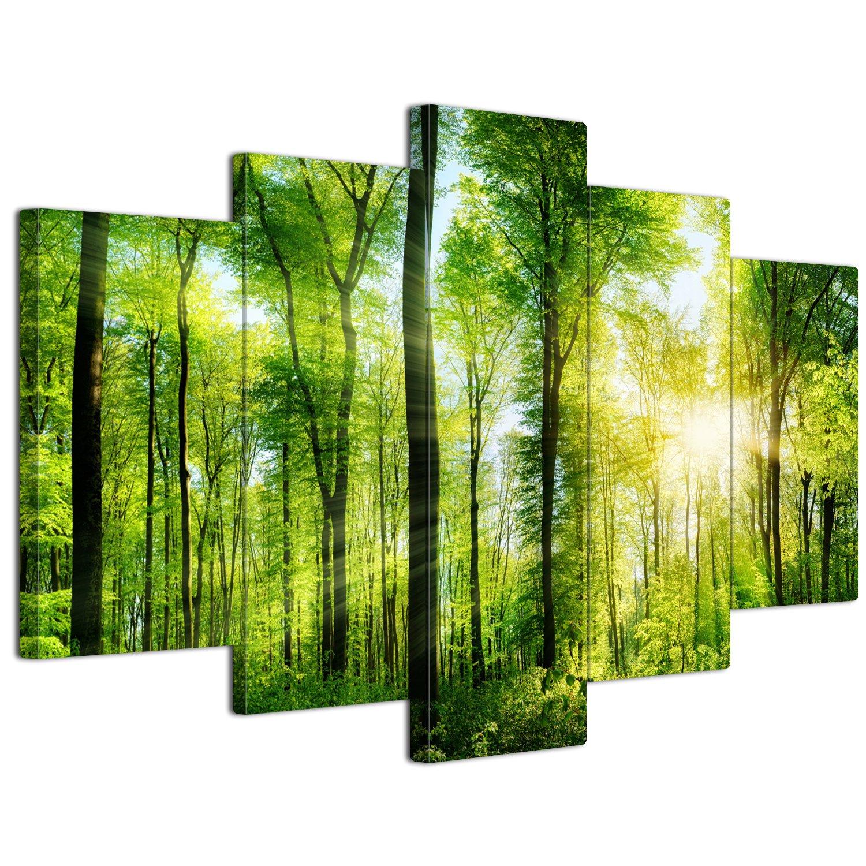 【リブラLibra】 5パネルセット アートパネル インテリアアート「林森」 キャンバス絵画 (木枠付きの完成品) (L, LP1719) B075SSDHTM Large|LP1719 LP1719 Large