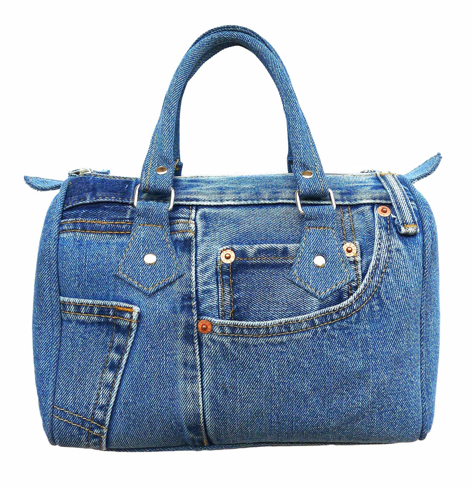 Bijoux De Ja Classic Blue Denim Jean Doctor Style Women Handbag (LL-04)