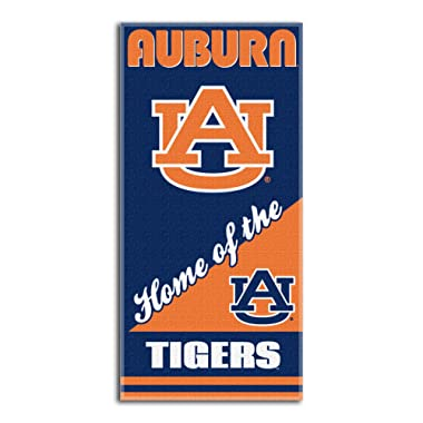 NCAA Auburn Tigers Home Beach Towel, 28 x 58-Inch