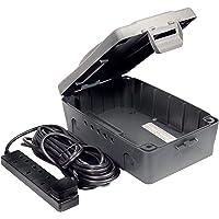 Masterplug WBXBFG10B Outdoor IP54 Weatherproof Box with 13amp 4 Socket 10m Extension Lead - Black