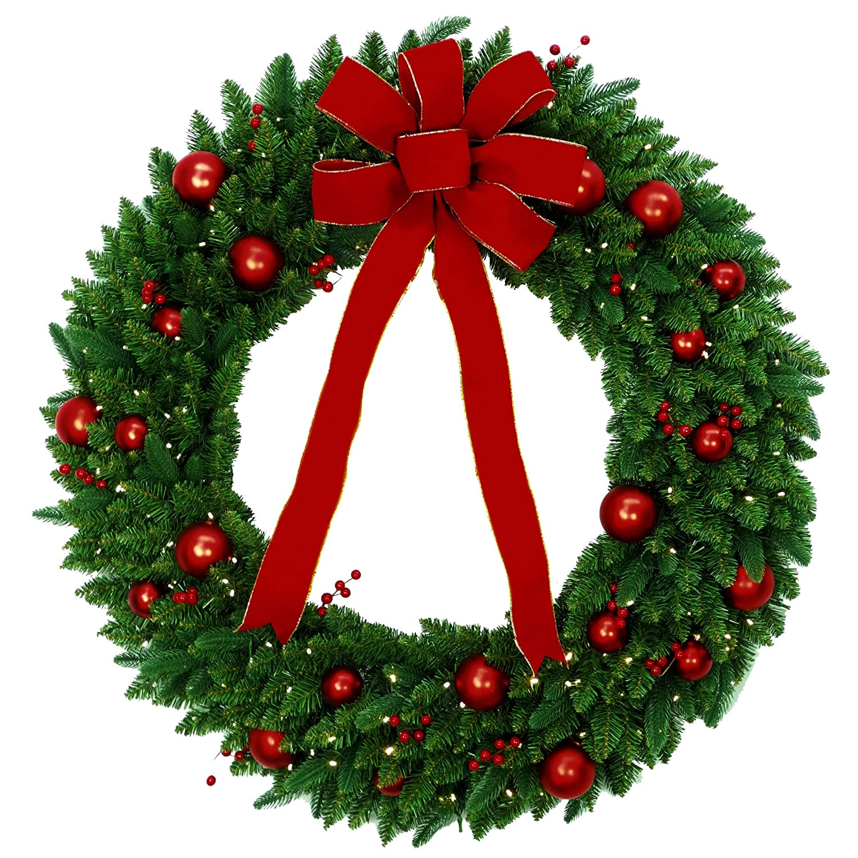 48 in National Tree Company Mixed Wreath Green