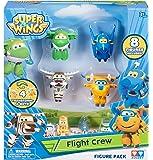 Super Wings Series 1World aeroporto Flight Crew B (Jerome, Donnie, bello, mira) + 4PVC figure