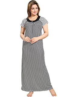 5daabf170a TUCUTE Women s Branches Print Nighty Night Gown Nightwear with Long ...