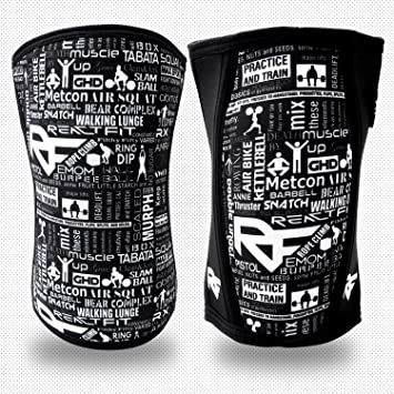 Amazon com: REACT FIT Knee Sleeves (1 Pair) Support & Compression