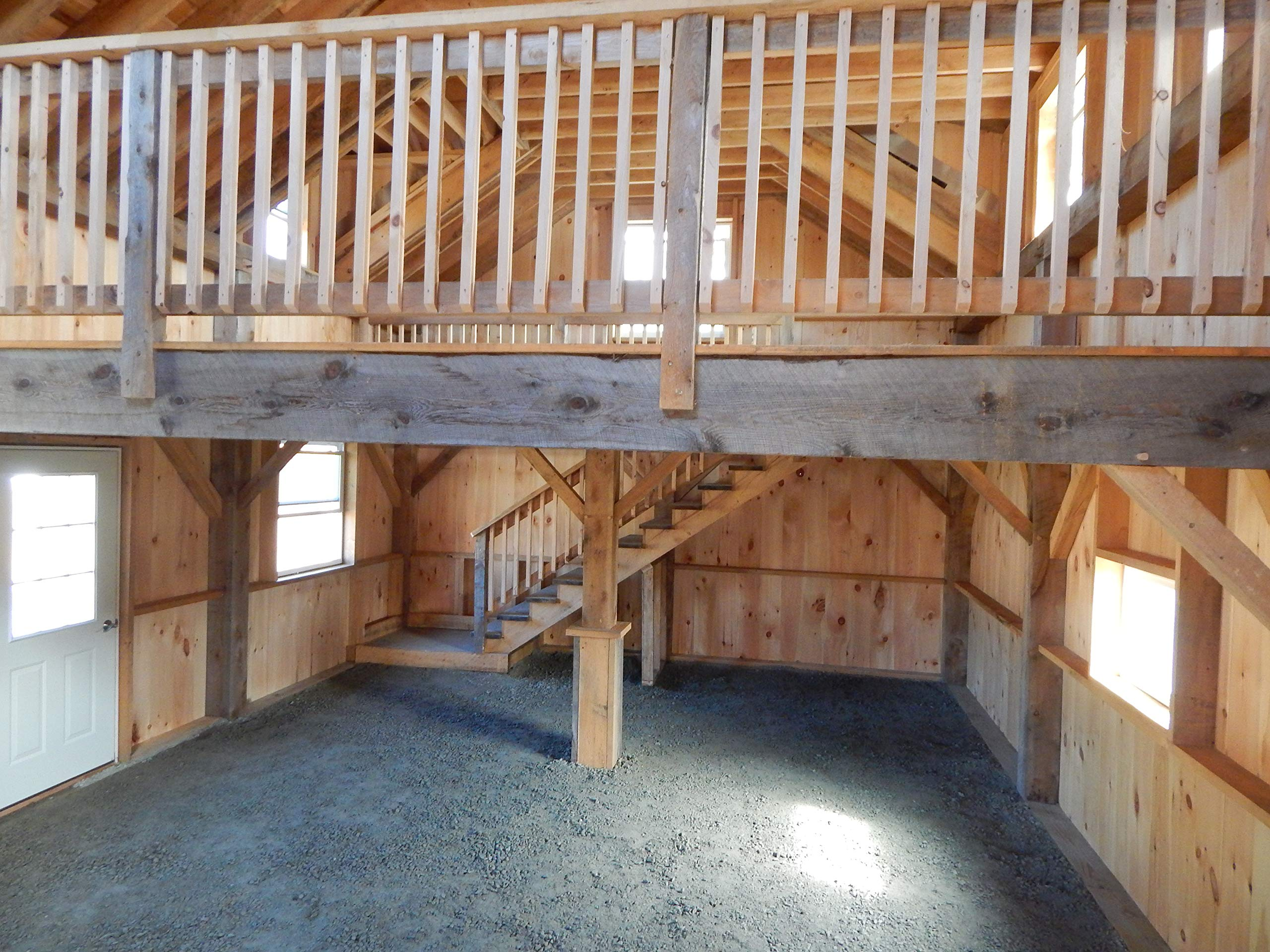 Mortise and Tenon Timber Frame - 20x30 Cabin with Full Loft - Step-By-Step DIY Plans by Jamaica Cottage Shop, Inc.