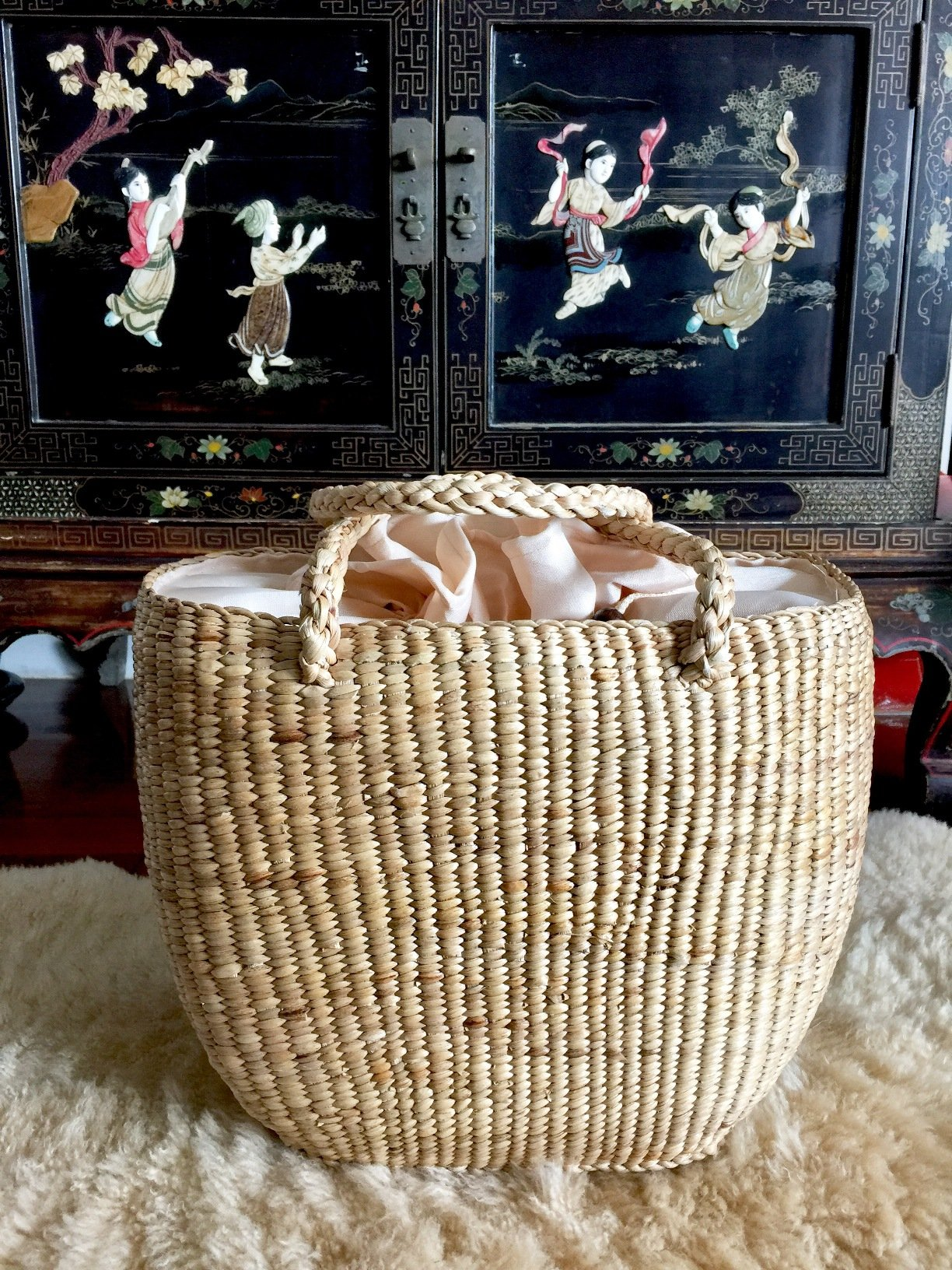 Large Straw Beach Basket,Straw Basket Tote,Straw Bag,Woven Straw Bag,Straw Tote