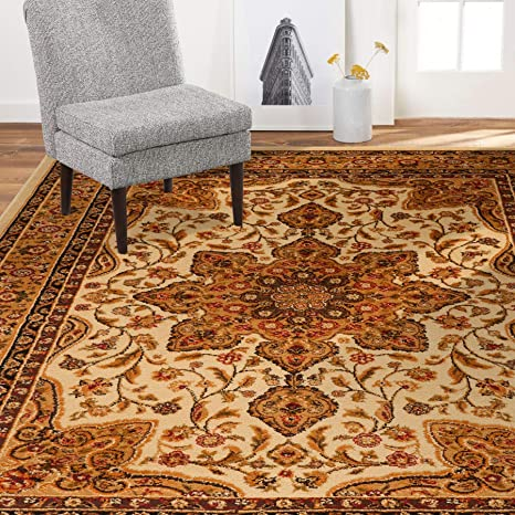 Home Dynamix 8083 100 Royalty Ursa Traditional Area Rug 7 8 X10 4 Oriental Ivory Furniture Decor