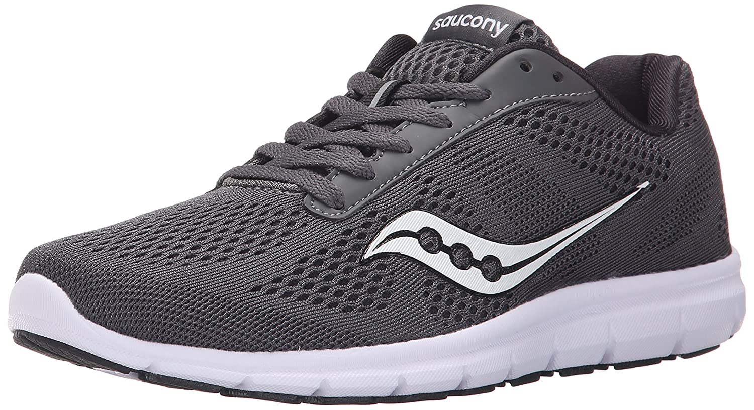 Saucony Women's Grid Ideal Running Shoe B00YBILWRC 6.5 B(M) US|Grey/White