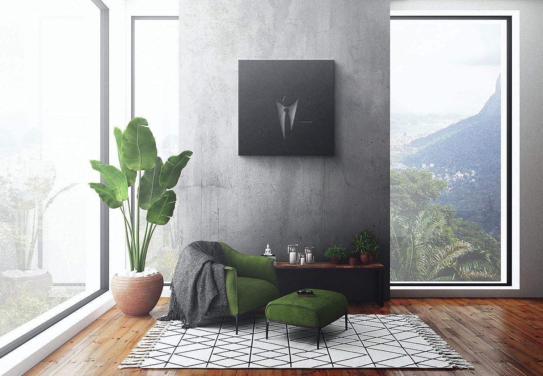For Living Room Size 45x45cm Outdoor Large Black Painted Artwork Bedroom Kitchen Meesoz Wall Art Metal Decor Suit Garden