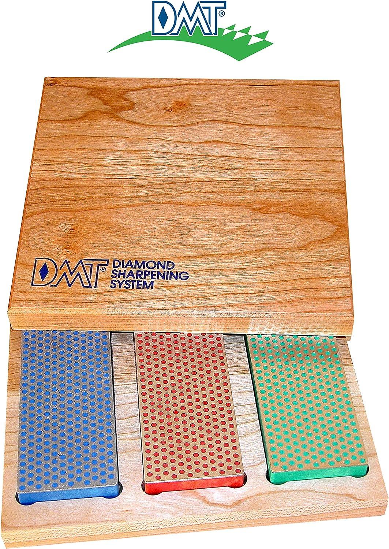 Diamond Machine Technology (DMT) 3-6-in. Diamond Whetstone Models Sharpener in Hard Wood Box (W6EFC) - Sharpening Stones -