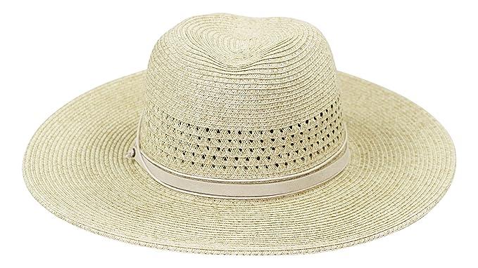42a277cc455 Nine West UPF Sun Protection Packable Panama Sun Hat (Taupe