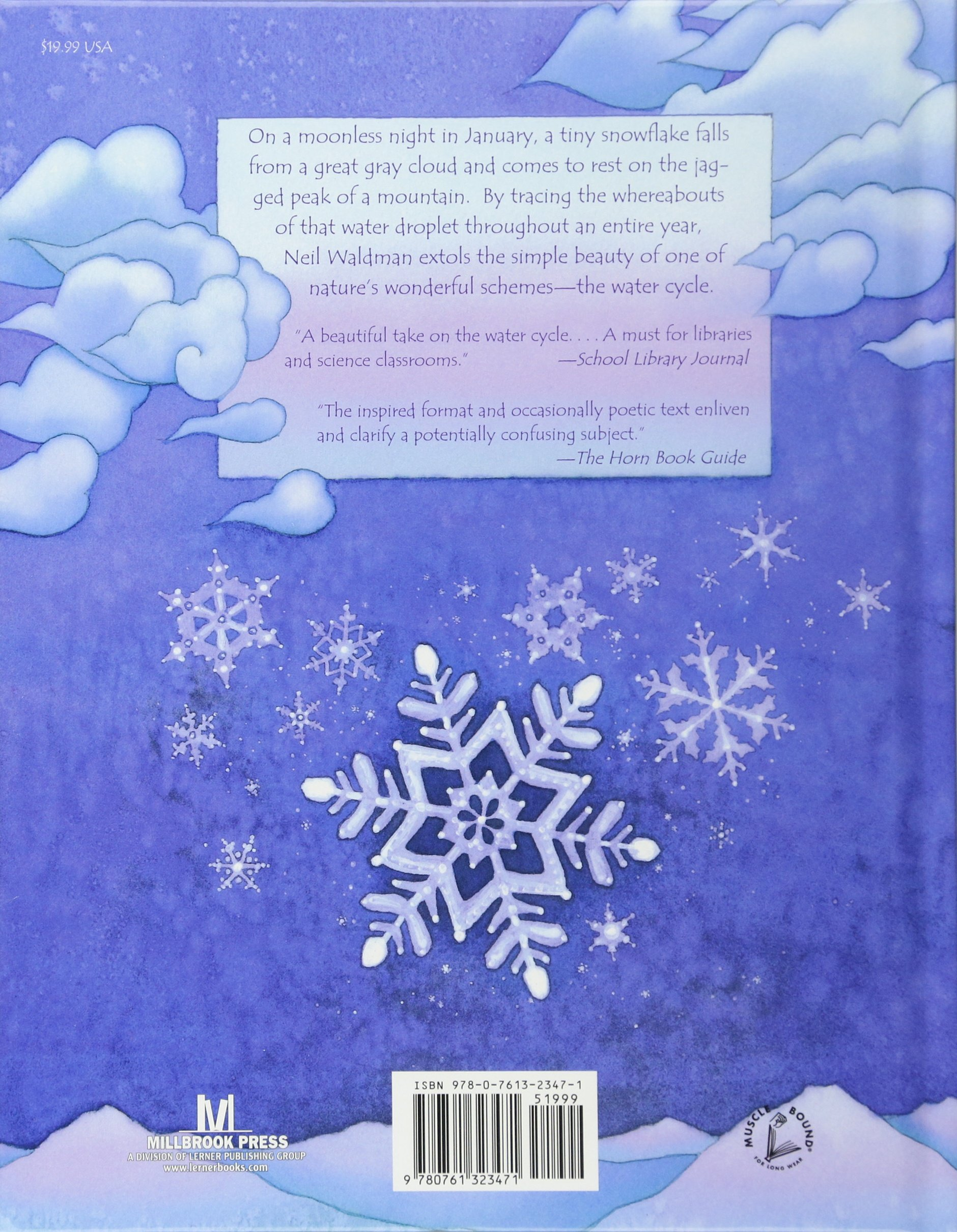 the snowflake a water cycle story neil waldman 9780761323471