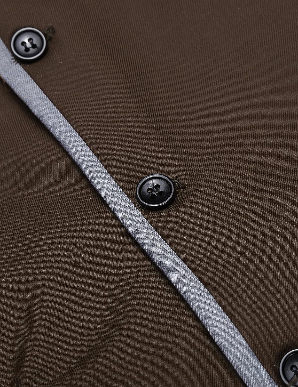 JINIDU Mens Suit Vest Slim Fit V Neck Dress Waistcoat Business Wedding Vests