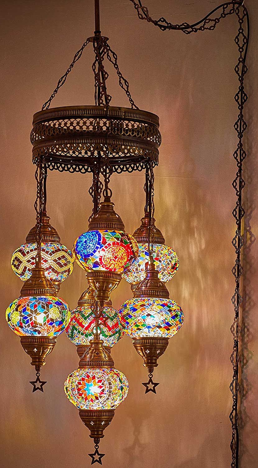 Choose from 35 Designs Turkish Moroccan Mosaic Glass Chandelier Lights Hanging Ceiling Lamps