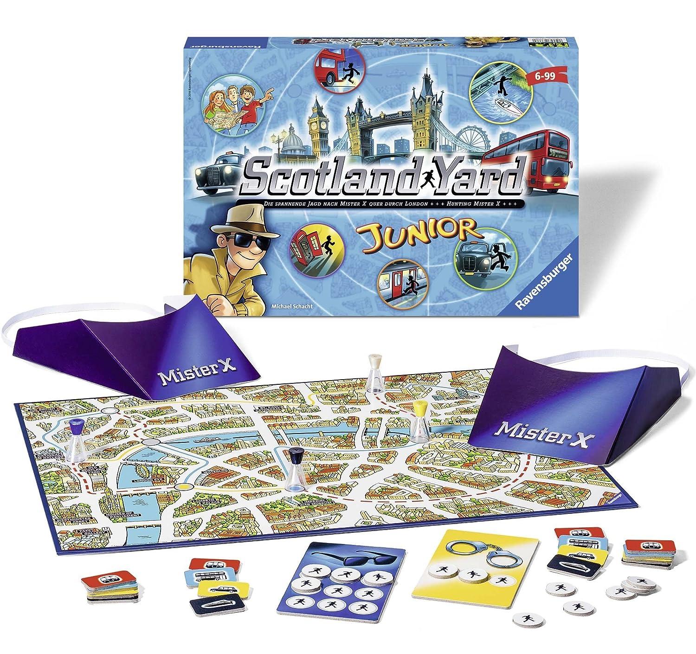 Ravensburger Personajes fántasticos Juego de Mesa Scotland Yard Junior Color Azul, Amarillo, Negro Miscelanea 22289 6: Amazon.es: Juguetes y juegos