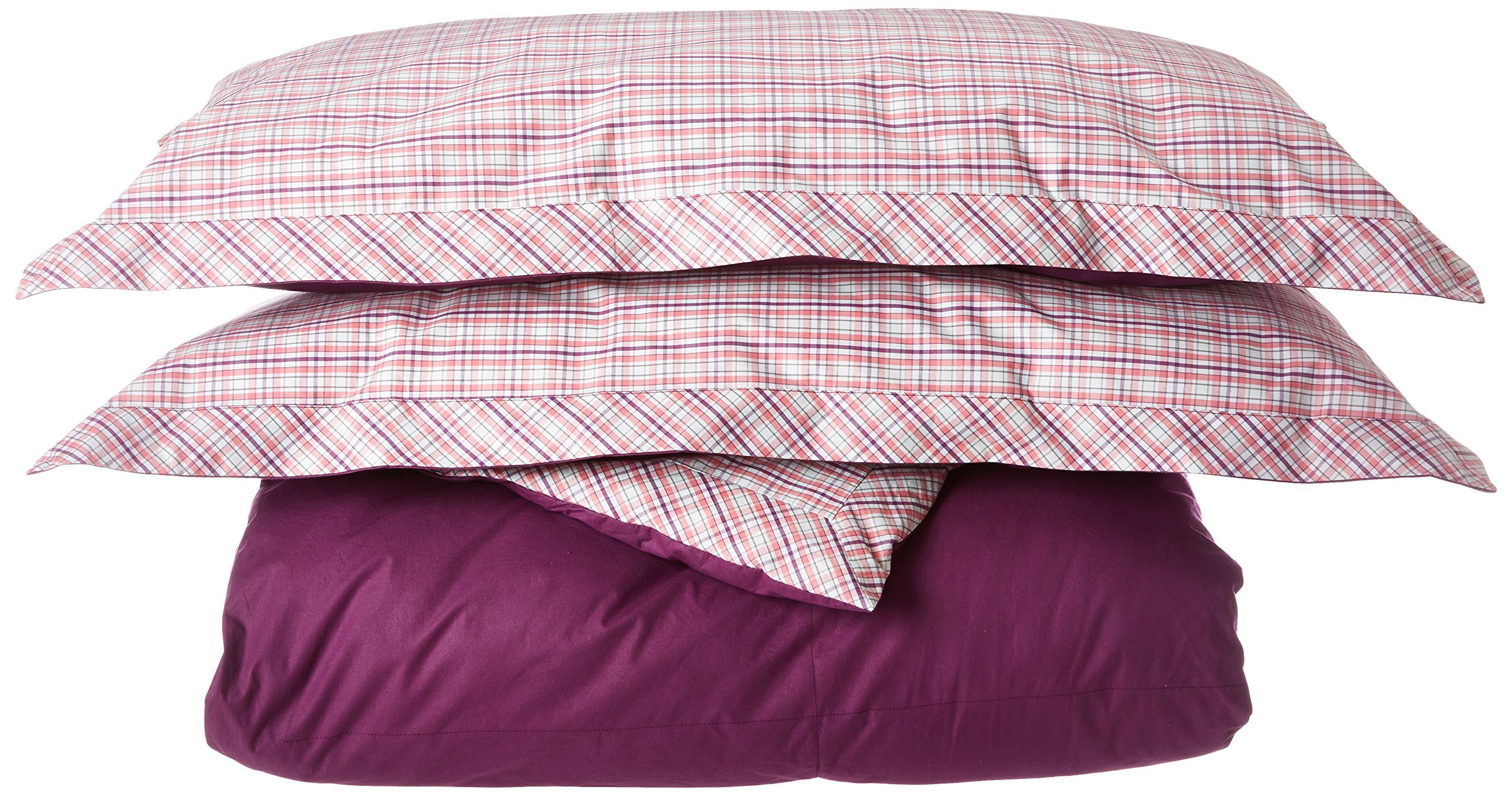 Southern Tide Strawberry Master Plaid/Wood Violet Yarn-Dye Mini Comforter Set, Full/Queen by Southern Tide (Image #1)