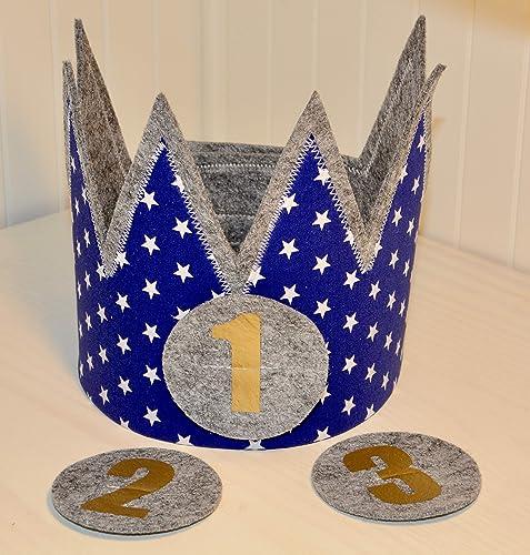 Der Wollprinz corona de cumpleaños, corona para bebe y niño ...