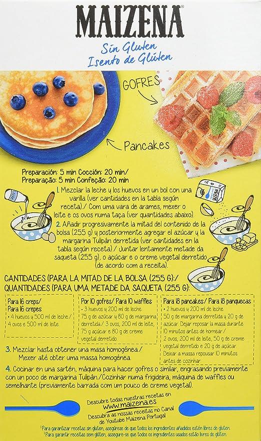 Maizena Mezcla para Crepes y Gofres sin Gluten - Paquete de ...