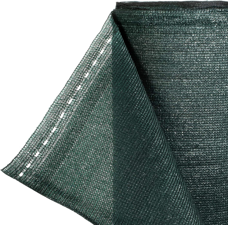 HOLZBRINK Filet d/'Ombrage 160g//m/² Couleur: Vert Fonc/é Ligne de Fixation PP 2mm Hauteur: 100cm HZB-01E-100-1 Ombrage 95/% Longueur: 1mb