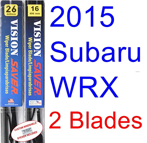 Amazon.com: 2015 Subaru WRX Replacement Wiper Blade Set/Kit (Set of 2 Blades) (Saver Automotive Products-Vision Saver): Automotive