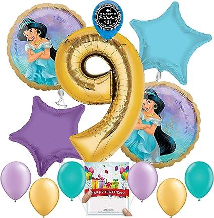Age 9//9th Birthday Blue Stars 18 Inch Foil Balloon