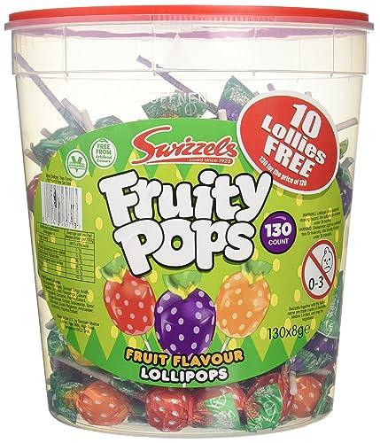 Swizzels Matlow Fruity Pops Lollies Original (130x8g)