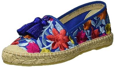 Flower, Espadrilles Femme - Bleu - Blau (Blue)ILC I Love Candies Shoes