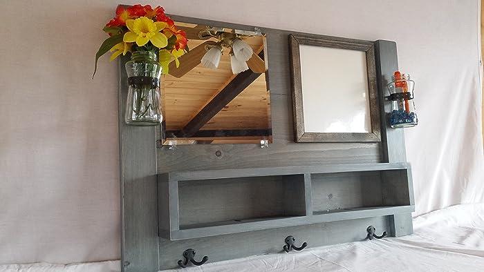 Greatest Amazon.com: Entryway Organizer, mirror with shelf, whiteboard  AX21